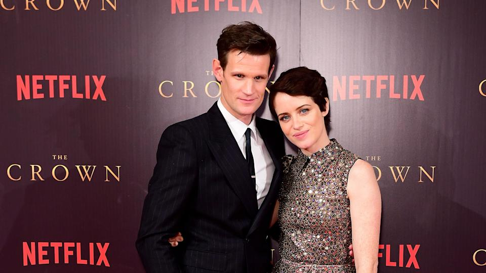 Matt Smith and Claire Foy (Credit: PA)
