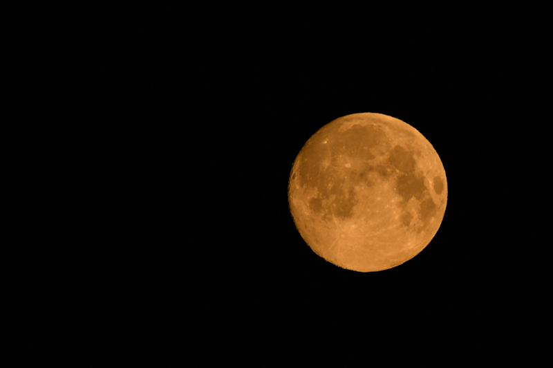 April 2020 pink supermoon over Krakow