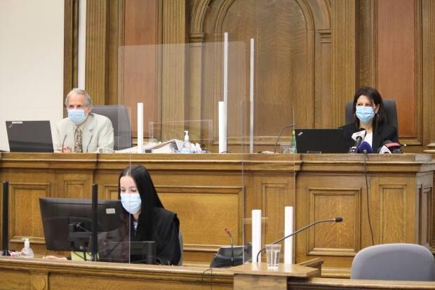 Dr. Jacques Ramsey, left, and Quebec Coroner Géhane Kamel, right, are co-presiding over the inquest.  (Marie-Laure Josselin/Radio-Canada - image credit)