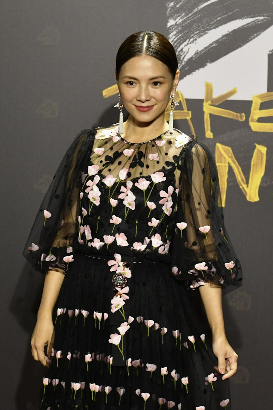 Malaysian Chinese actress Angelica Lee arrives on the red carpet at the 57th Golden Horse film awards, dubbed the Chinese 'Oscars', in Taipei on November 21, 2020. (Photo by SAM YEH / AFP) / The erroneous mention[s] appearing in the metadata of this photo by SAM YEH has been modified in AFP systems in the following manner: [Malaysian Chinese] instead of [Singaporean]. Please immediately remove the erroneous mention[s] from all your online services and delete it (them) from your servers. If you have been authorized by AFP to distribute it (them) to third parties, please ensure that the same actions are carried out by them. Failure to promptly comply with these instructions will entail liability on your part for any continued or post notification usage. Therefore we thank you very much for all your attention and prompt action. We are sorry for the inconvenience this notification may cause and remain at your disposal for any further information you may require. (Photo by SAM YEH/AFP via Getty Images)