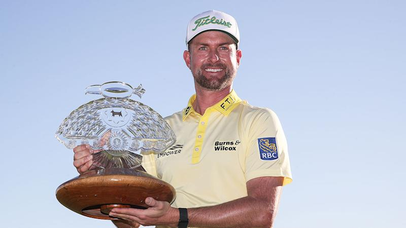 Webb Simpson won the Phoenix Open in a play-off. Pic: Getty