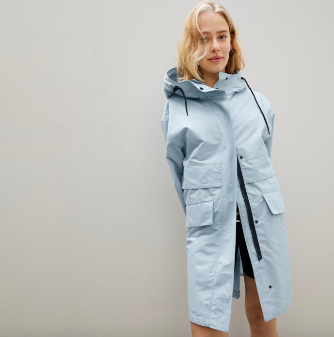The ReNew Anorak in Seaglass. Image via Everlane.