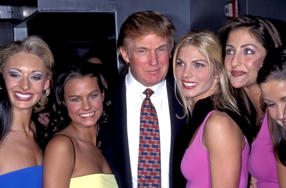 Trump with Miss USA and Miss Teen participants