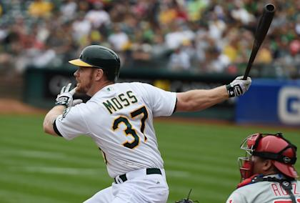 In his three seasons with Oakland, Brandon Moss hit 76 home runs. (Getty Images)