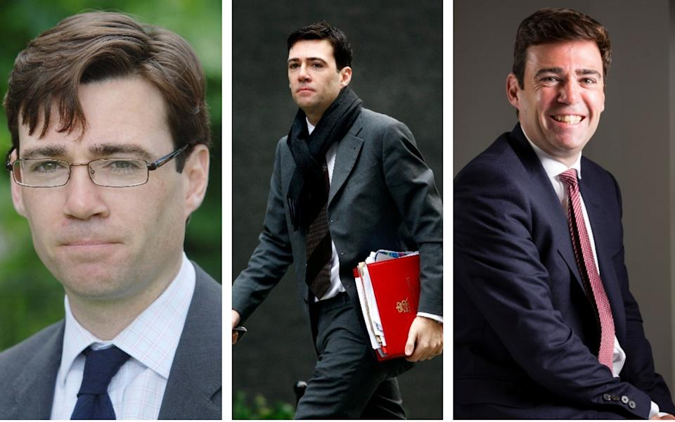 Burnham in 2006, 2008 and 2015 - The Telegraph/ Reuters/ The Telegraph