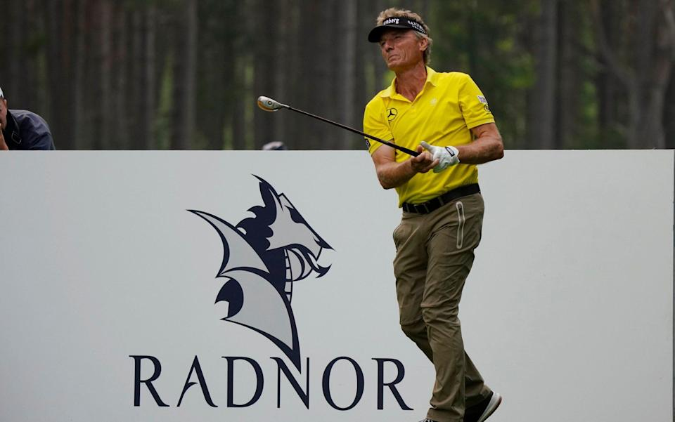 Bernhard Langer stuns fans at Senior Open by driving the ball 350 yards - at 63 years old - Phil Inglis /Getty Images Europe