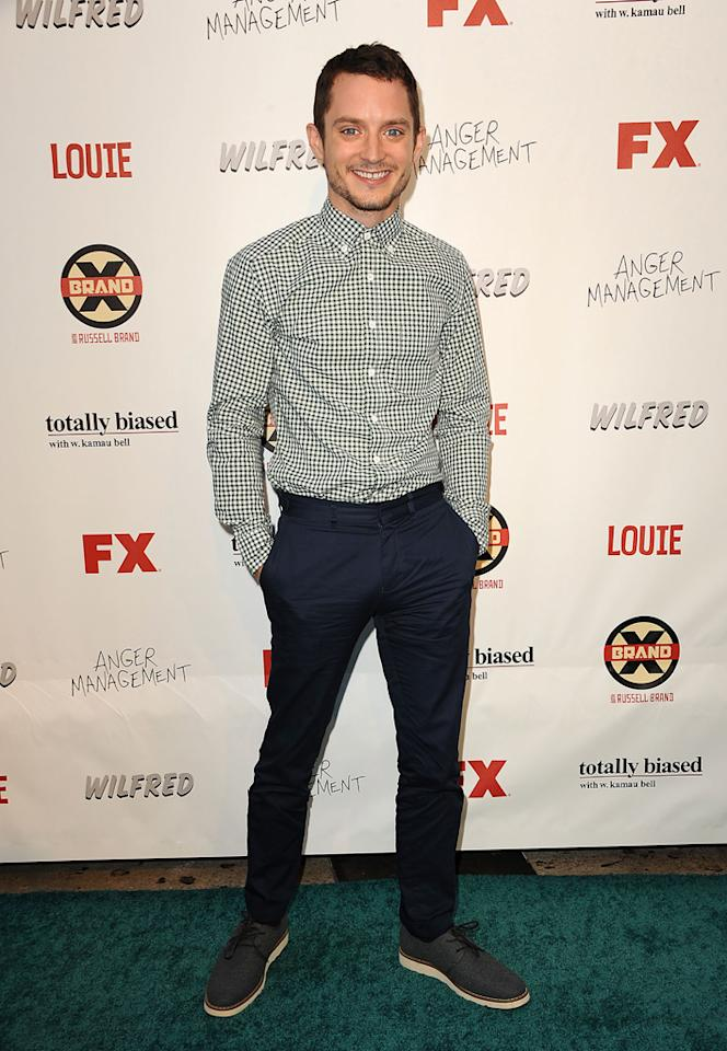 Elijah Wood attends the FX Summer Comedies Party at Lure on June 26, 2012 in Hollywood, California.
