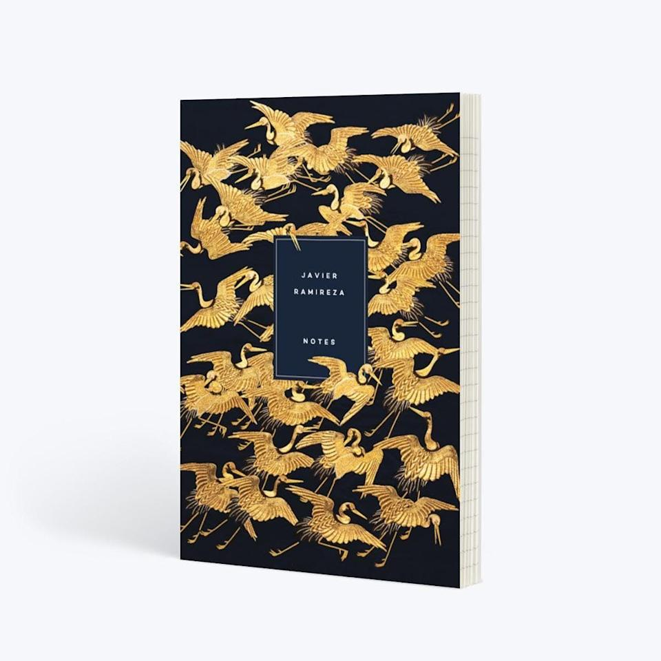 <p>Take notes during meetings in this gorgeous <span>Papier Gold Crane Notebook</span> ($18, originally $21).</p>