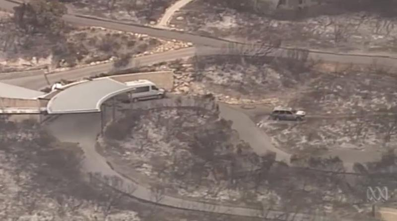 Kangaroo Island in South Australia is seen ravaged by bushfires.