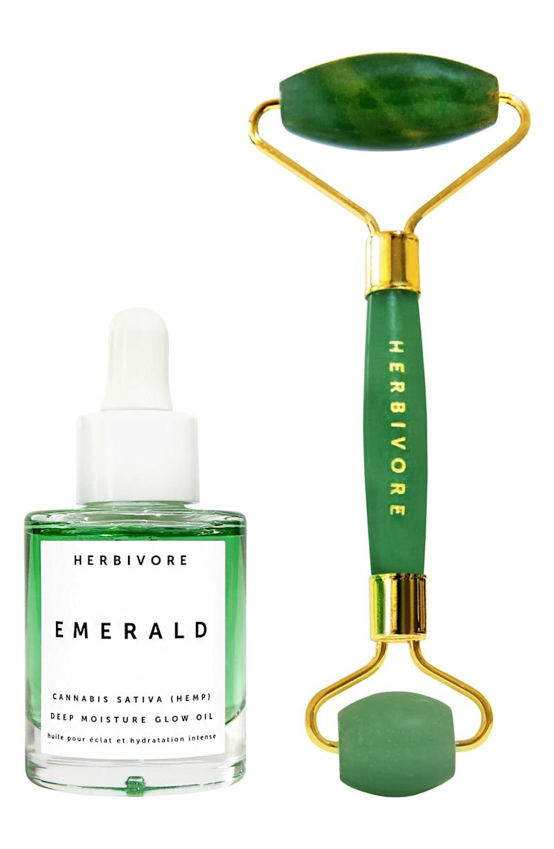 "Jump on the cannabis beauty and jade rolling trend with this set. <strong><a href=""https://fave.co/2O655cy"" target=""_blank"" rel=""noopener noreferrer"">Normally $78, get it on sale for $52 during the Nordstrom Anniversary Sale</a>.</strong>"