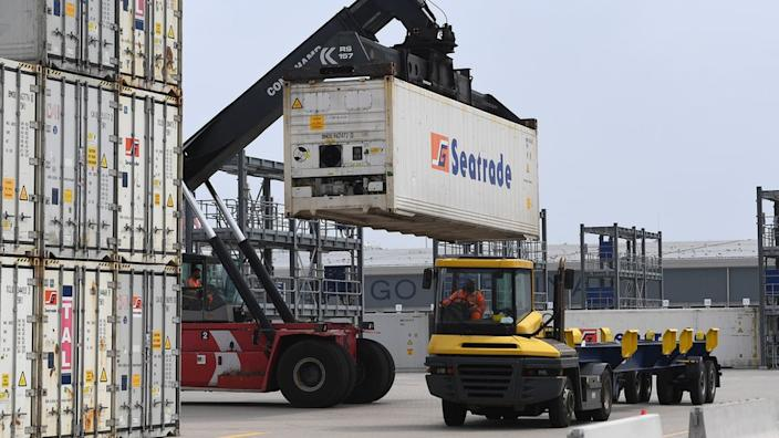 Containers at Dover