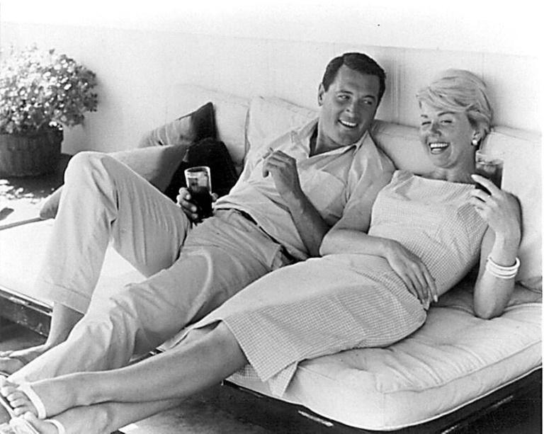 Actor Rock Hudson, pictured here with US actress Doris Day (R), was the first major celebrity to die of AIDS