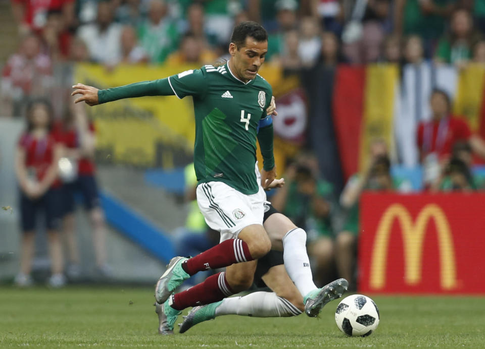 Sponsors who associate with Rafael Márquez could face stiff penalties after the U.S. Treasury dept. blacklisted the Mexican soccer star for alleged drug ties. (AP)