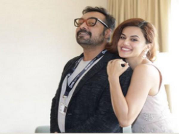 Actor Taapsee Pannu with filmmaker Anurag Kashyap (Image Source: Instagram)