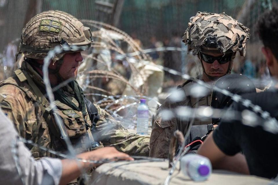 The British (left) and US military have been working together to evacuate people out of Afghanistan (MoD) (PA Media)
