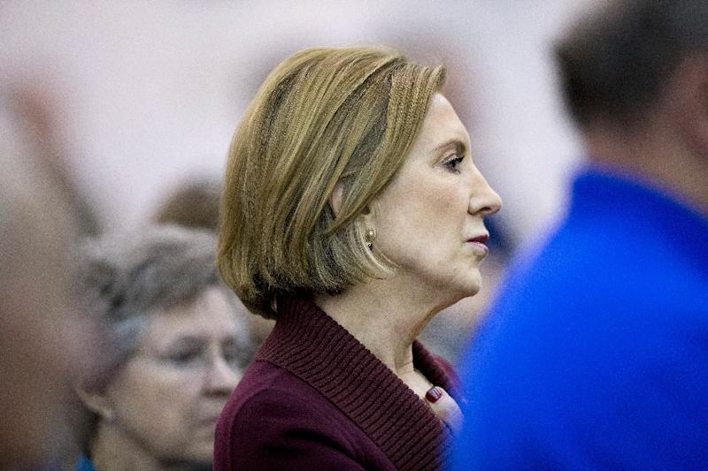 Republican presidential candidate Carly Fiorina falsely claimed the United States was preparing to accept 250,000 Syrian refugees (AFP Photo/Scott Olson)