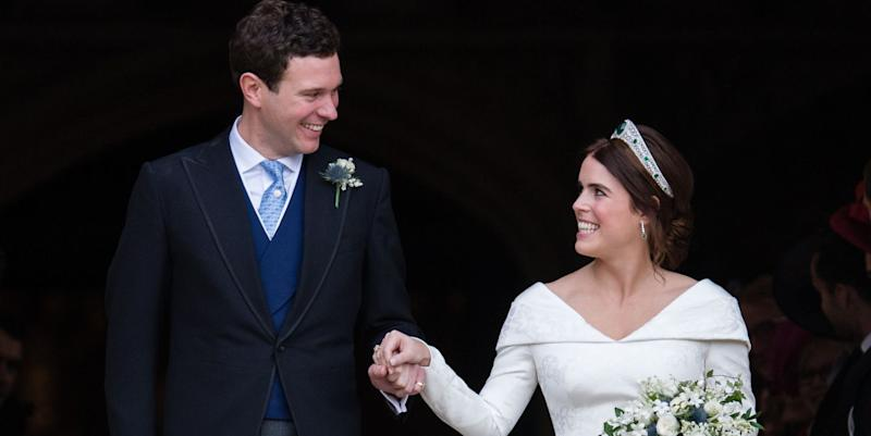 Princess Eugenie's second wedding gown by Zac Posen