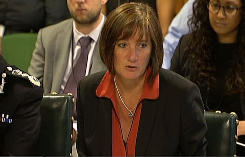 Lynne Owens, Director General of the National Crime Agency, is questioned by the Home Affairs Committee in the Palace of Westminster, London.