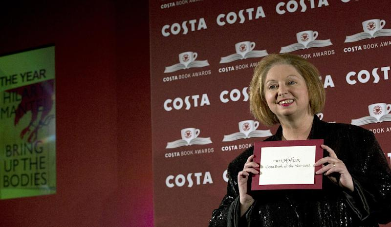 Author and winner of the Costa Book of the Year Award for 2012 Hilary Mantel poses for photographers at the Costa Book awards ceremony in London, Tuesday, Jan. 29, 2013. Mantel won with her book entitled 'Bring Up The Bodies' . (AP Photo/Alastair Grant)