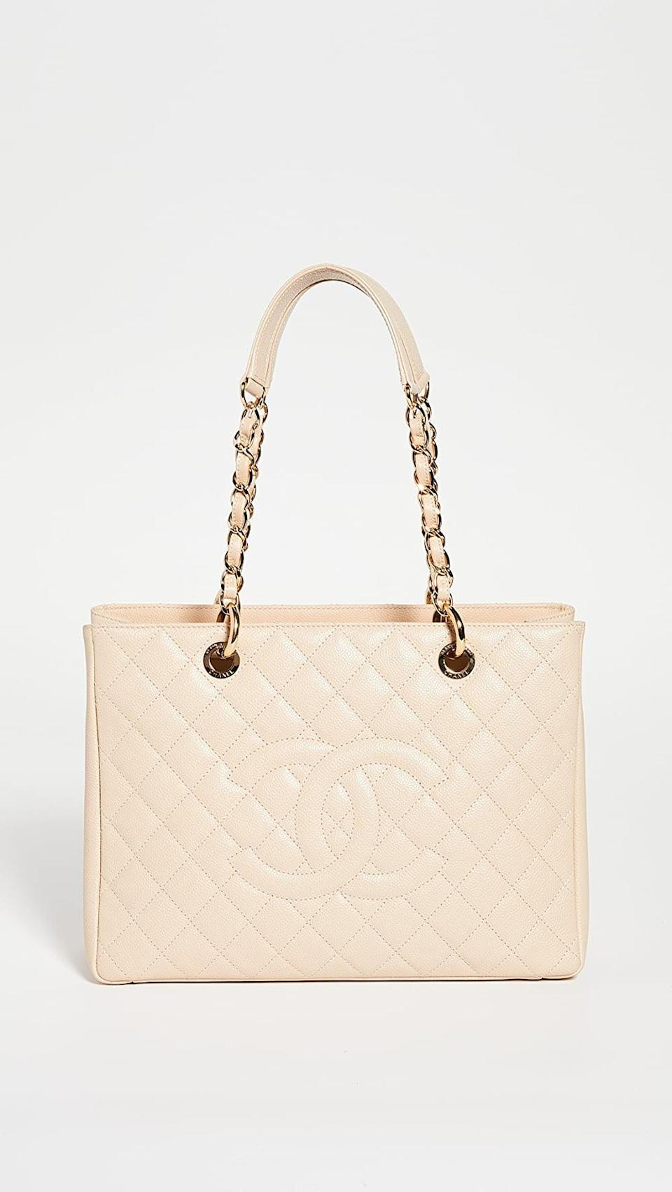 <p>This vintage <span>What Goes Around Comes Around Chanel Beige Caviar Bag</span> ($3,800, originally $4,750) is on sale. There's really nothing else you need to know.</p>