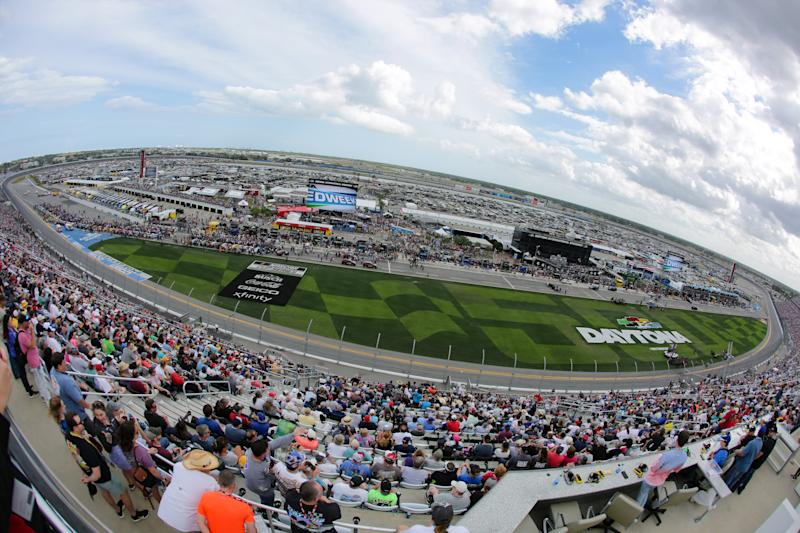 DAYTONA, FL - FEBRUARY 16: A general view of Daytona International Speedway before the Daytona 500 on February 16, 2020 at Daytona International Speedway in Daytona Beach, Fl. (Photo by David Rosenblum/Icon Sportswire via Getty Images)