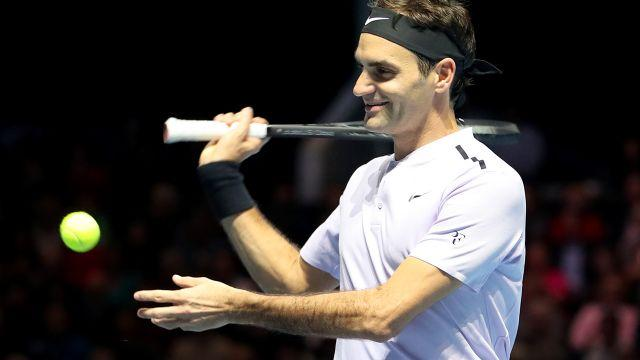 Federer laughed off the incident. Image: Getty