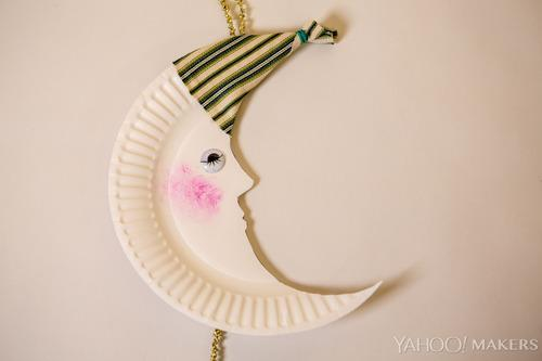 & $3 Paper Plate Moon Craft Will Have You Sleeping Soundly