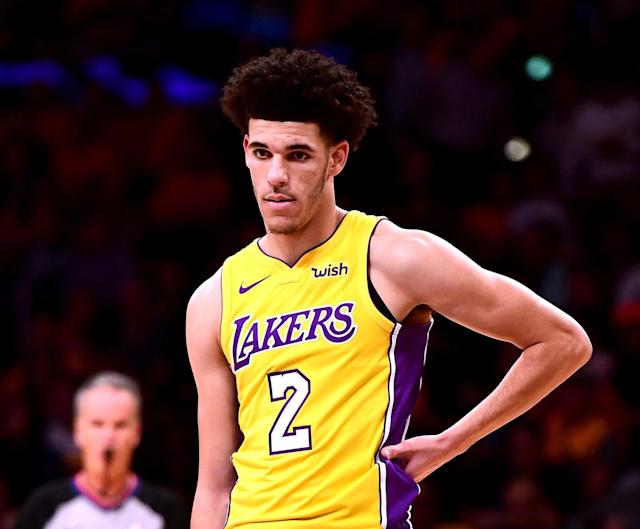 Lonzo Ball played 29 minutes Thursday night and shot 1-of-6 from the floor for three points and had nine rebounds, four assists and two turnovers. (Getty Images)