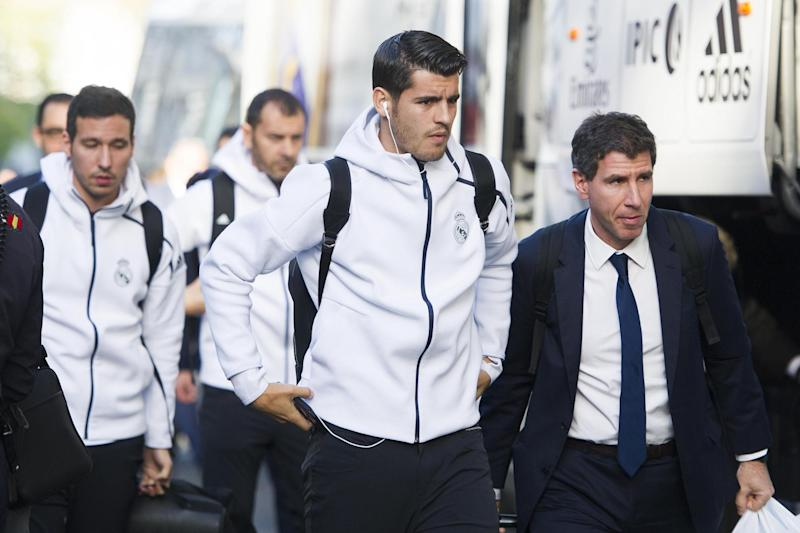 On the move: Morata is expected to leave Real Madrid this summer: Getty Images