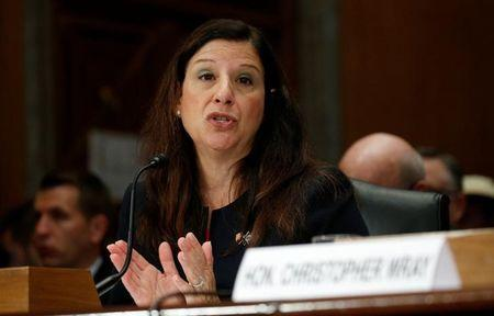"Elaine Duke testifies at a ""threats to the homeland"" hearing on Capitol Hill in Washington"
