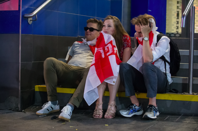 <p>A night out in Birmingham to watch the semi-final did not go to plan. (SWNS) </p>