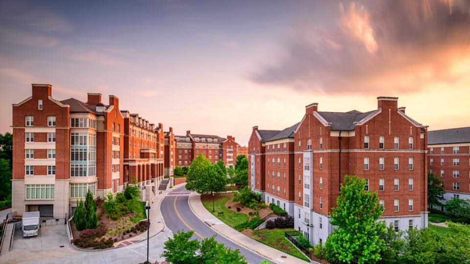 Dormitory apartment buildings at the University of Georgia