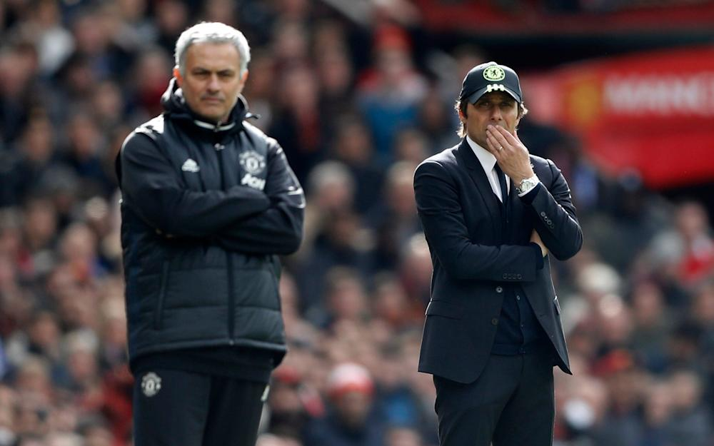 Chelsea manager Antonio Conte and Manchester United manager Jose Mourinho - Credit: REUTERS