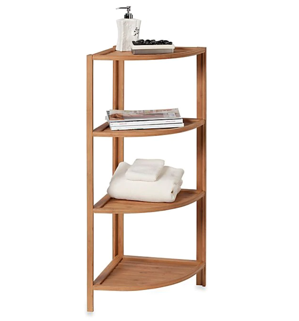 "<h3><a href=""https://www.bedbathandbeyond.com/store/product/ecostyles-4-shelf-bamboo-corner-tower/1041118245"" rel=""nofollow noopener"" target=""_blank"" data-ylk=""slk:Creative Bath 4-Shelf Bamboo Corner Tower"" class=""link rapid-noclick-resp"">Creative Bath 4-Shelf Bamboo Corner Tower</a></h3> <br><strong>When your walls aren't built for storage: </strong>Take advantage of an empty corner with this incredibly easy to assemble and space-efficient shelf tower that's built to fit where no others have fit before. <br><br><strong>Creative Bath</strong> 4-Shelf Bamboo Corner Tower, $, available at <a href=""https://go.skimresources.com/?id=30283X879131&url=https%3A%2F%2Fwww.bedbathandbeyond.com%2Fstore%2Fproduct%2Fecostyles-4-shelf-bamboo-corner-tower%2F1041118245"" rel=""nofollow noopener"" target=""_blank"" data-ylk=""slk:Bed Bath & Beyond"" class=""link rapid-noclick-resp"">Bed Bath & Beyond</a>"
