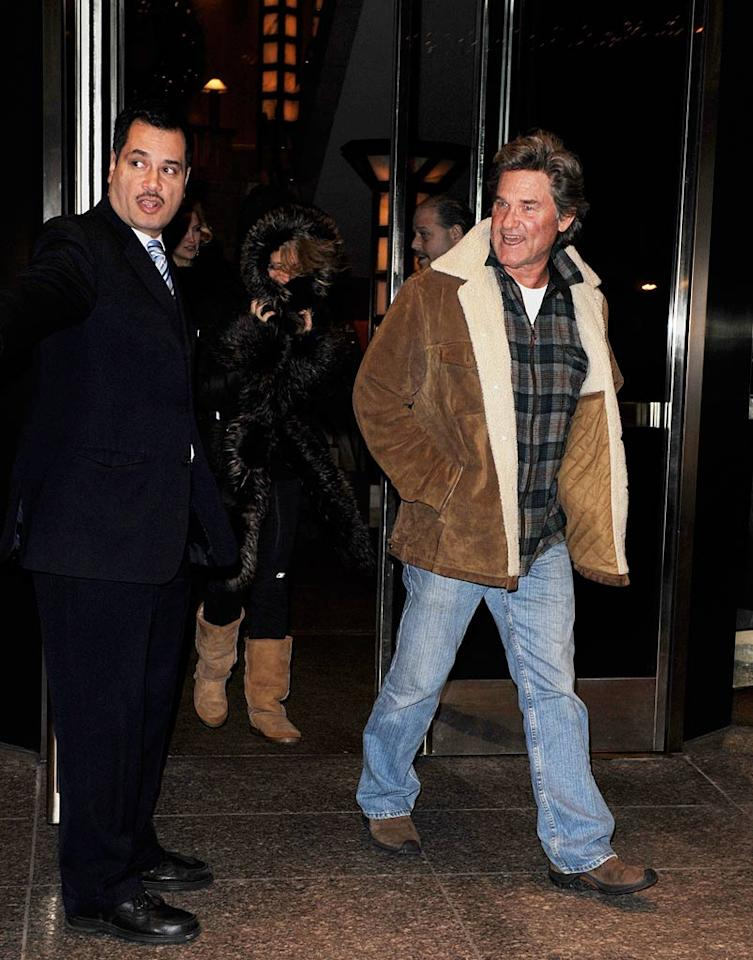 "Later in the evening, Kate stepped out with her parents Goldie Hawn and Kurt Russell. Dario Alequin/<a href=""http://www.infdaily.com"" target=""new"">INFDaily.com</a> - December 14, 2009"