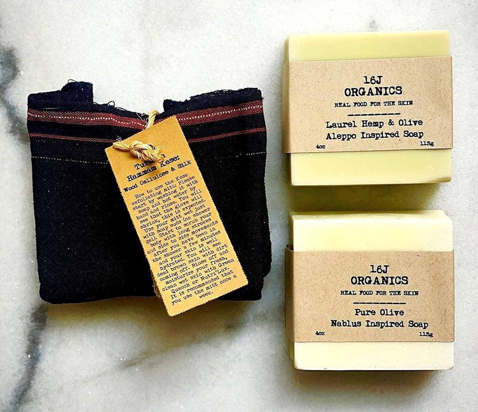<p>Who doesn't love a good spa day!? Give yourself a relaxing pamper session with these <span>16J Organics Ottoman Inspired Artisanal Soaps</span> ($29).</p>