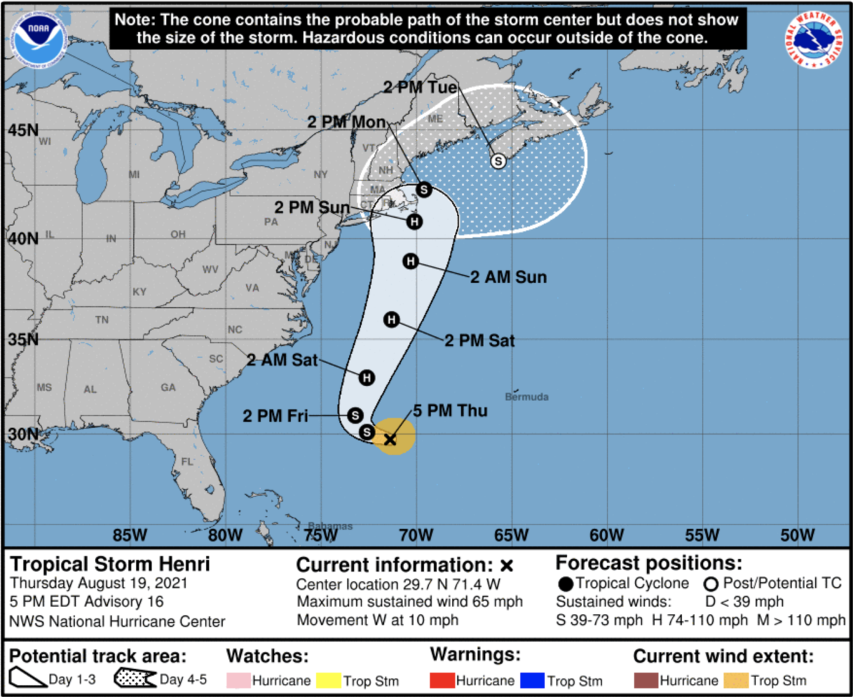 Tropical Storm Henri could strengthen into a hurricane as it heads for the New England area.