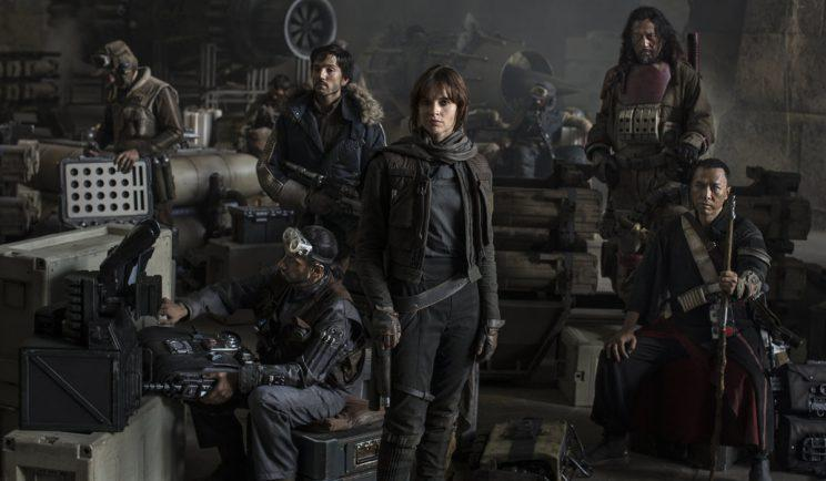 The motley team trying to save the galaxy in 'Rogue One' - Credit: OutNow