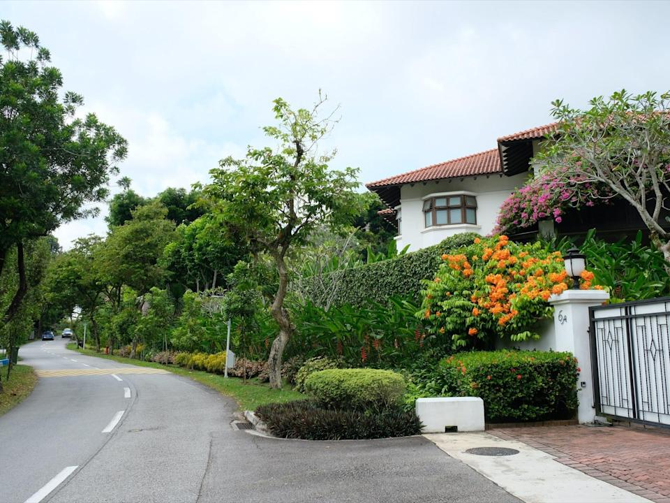 a view of queen astrid park road in singapore