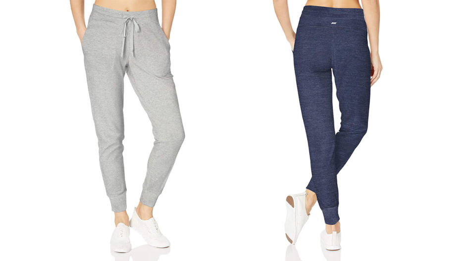 Amazon Essentials Studio Terry Relaxed-Fit Joggers come in several amazing colors. (Photo: Getty)