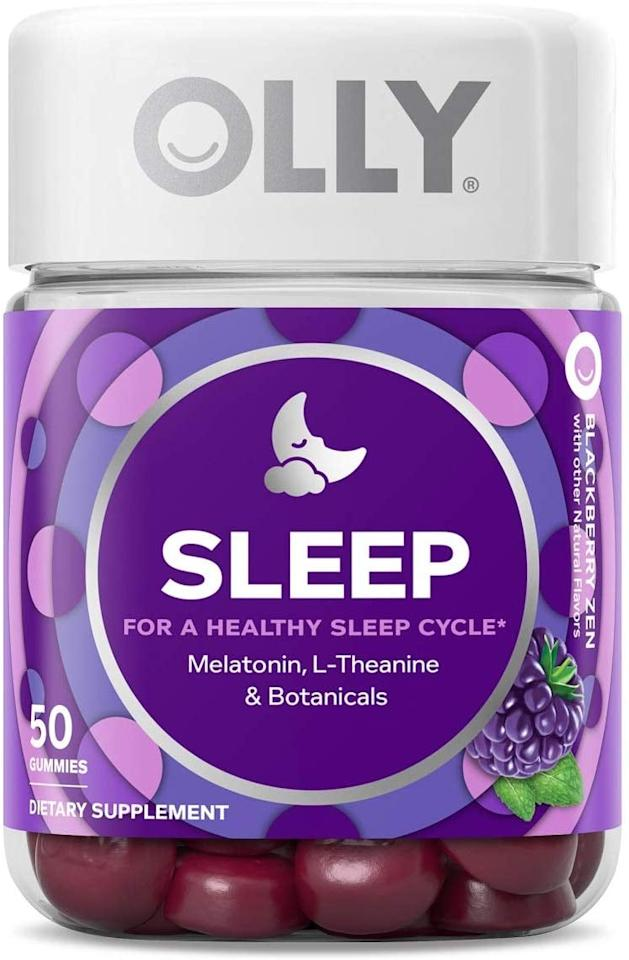 "<p>I'm a big fan of melatonin, and being able to take it in candy form is really awesome. I like these <a href=""https://www.popsugar.com/buy/OLLY-Sleep-Melatonin-Gummies-534951?p_name=OLLY%20Sleep%20Melatonin%20Gummies&retailer=amazon.com&pid=534951&price=13&evar1=fit%3Aus&evar9=45594105&evar98=https%3A%2F%2Fwww.popsugar.com%2Ffitness%2Fphoto-gallery%2F45594105%2Fimage%2F47043401%2FOLLY-Sleep-Melatonin-Gummy&list1=shopping%2Csleep%2Csleeping%2Chealthy%20living%20tips&prop13=mobile&pdata=1"" rel=""nofollow"" data-shoppable-link=""1"" target=""_blank"" class=""ga-track"" data-ga-category=""Related"" data-ga-label=""https://www.amazon.com/Supplement-Melatonin-L-Theanine-Chamomile-Blackberry/dp/B0145QI7O0/ref=sr_1_4?keywords=sleep&amp;qid=1576873676&amp;sr=8-4"" data-ga-action=""In-Line Links"">OLLY Sleep Melatonin Gummies</a> ($13).</p>"