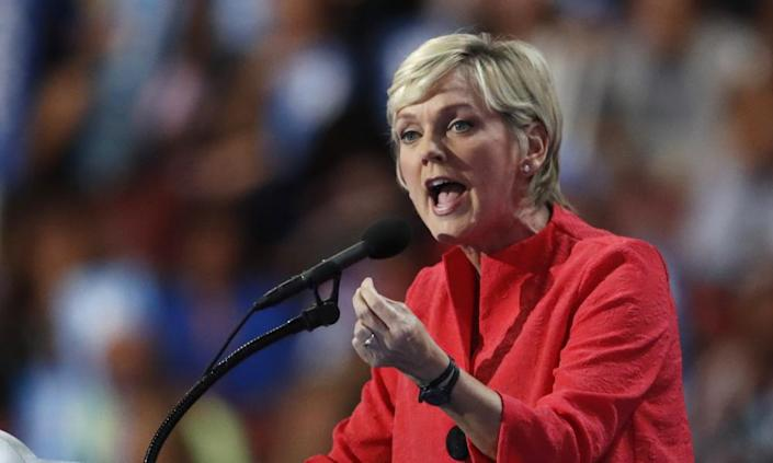 Jennifer Granholm speaks during the the Democratic national convention in 2016.