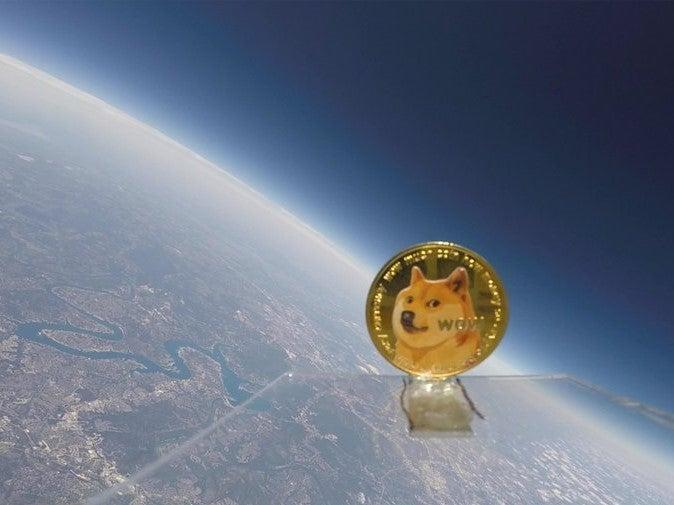 A dogecoin was sent to space attached to a weather balloon to mark Elon Musk's birthday on 28 June, 2021 (Reid Williamson/ Twitter)  - 581e22ebad8c0f33455c3a34f753a1fb - Dogecoin sent 'to space' for Elon Musk's birthday
