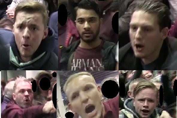 CCTV footage: Police are hunting for these six men: Met Police
