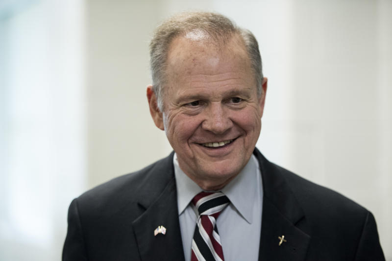 GOP candidate for U.S. Senate Roy Moore speaks during a candidates' forum in Valley, Ala., on Thursday, Aug. 3, 2017.