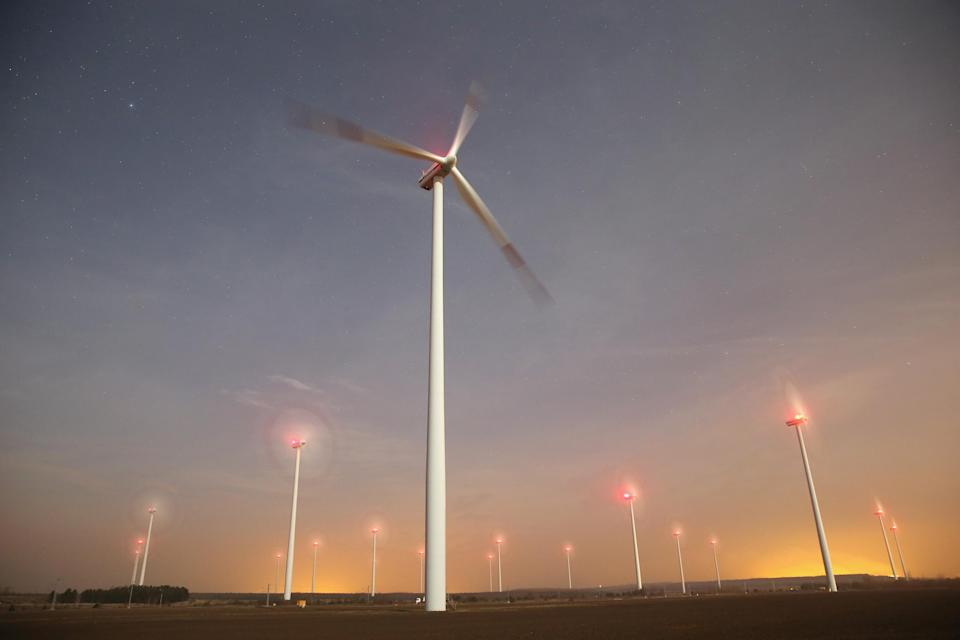 A windfarm in Sweden, where more than half the energy used is from renewable sources: Getty