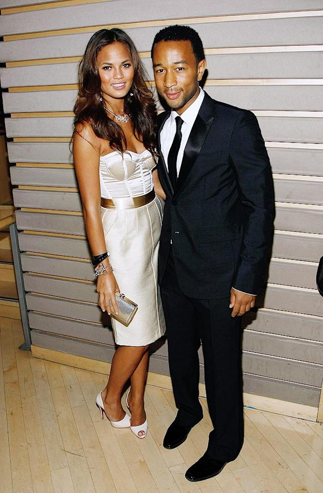"John Legend cozied up to his model girlfriend Christine Teigen. Jemal Countess/<a href=""http://www.wireimage.com"" target=""new"">WireImage.com</a> - May 5, 2009"
