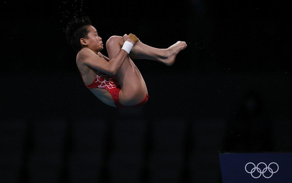 Quan Hongchan looks certain to win gold - GETTY IMAGES
