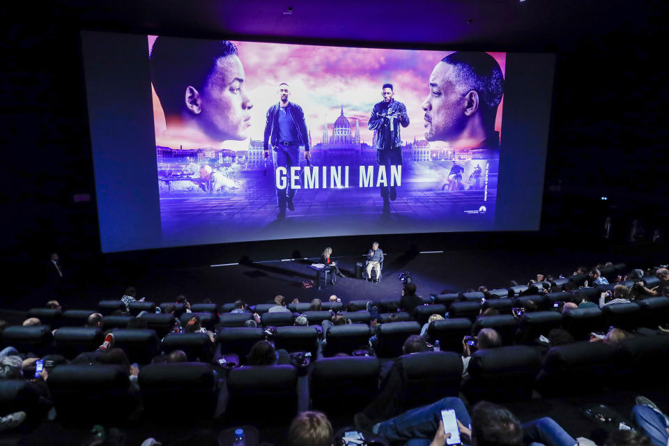 """PARIS, FRANCE - SEPTEMBER 27: Ang Lee attends the Paramount Pictures, Skydance and Jerry Bruckheimer Films """"Gemini Man"""" Post-Screening Q&A with Ang Lee at Cinema Pathe Beaugrenelle on September 27, 2019 in Paris, France. (Photo by Julien M. Hekimian/Getty Images for Paramount Pictures)"""