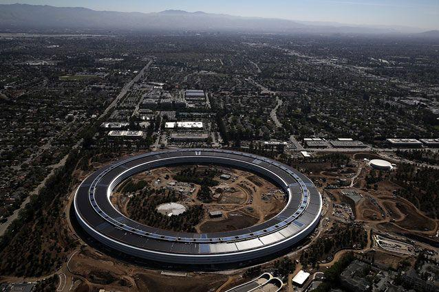 An aerial view of Apple Park. Source: Getty Images